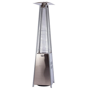 Fire Sense Stainless Steel Pyramid 40,000 BTU LPG Flame Patio Heater