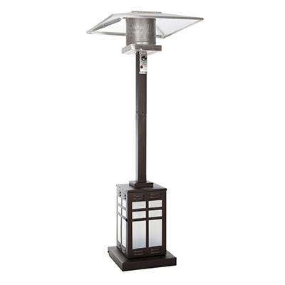 Fire Sense Square Mocha Illuminated Patio Heater