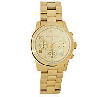 Women's Runway Gold-Tone Stainless Steel Watch by Michael Kors