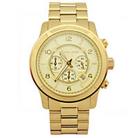Men's Runway Gold-Tone Stainless Steel Watch by Michael Kors