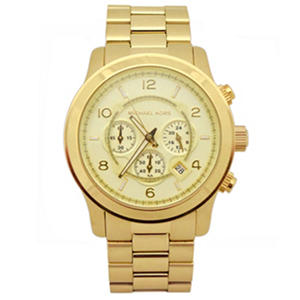 Men's Runway Gold-Tone Stainless Steel Watch by Michael Kors
