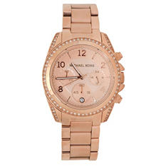 Women's Blair Rose Gold-Tone Stainless Steel Watch by Michael Kors