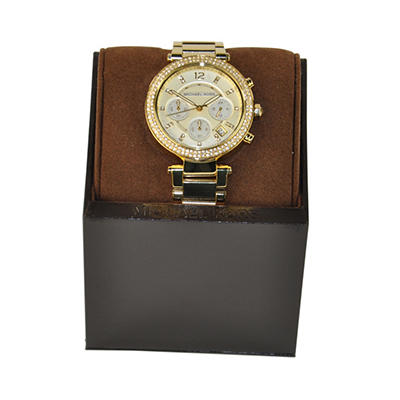 Ladies Parker Watch in Gold Ion Plated Stainless Steel by Michael Kors