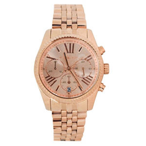 Michael Kors Women's Lexington Rose Gold-Tone Stainless Steel Watch