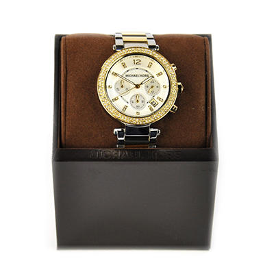 Ladies Parker Watch in Two Tone Stainless Steel by Michael Kors