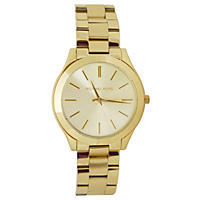 Women's Slim Runway Gold-Tone Stainless Steel Watch by Michael Kors