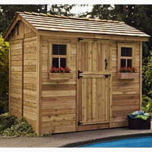 9' x 6' Outdoor Living Cabana Garden Shed