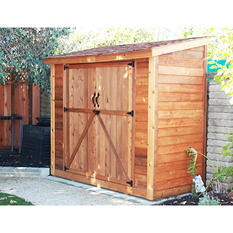 8'x4' SpaceSaver Red Cedar Double Door Garden Shed