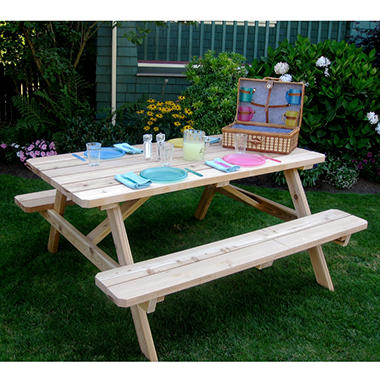6 ft. x 3 ft. Cedar Picnic Table