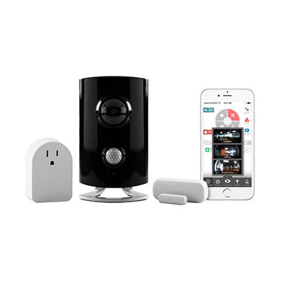 Piper Wireless Camera Kit- Home Security, Video Monitoring and Home Automation System w/ Z-Wave Door Sensor and Smart Switch