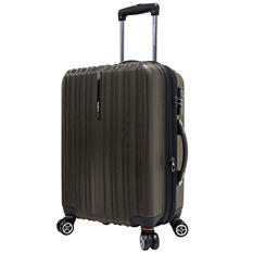 "Traveler's Choice 21"" Tasmania Spinner Luggage - Dark Brown"