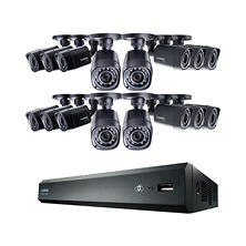 Lorex 16-Channel 720p Surveillance System, 16 720p Weatherproof Bullet Cameras with 130' Night Vision