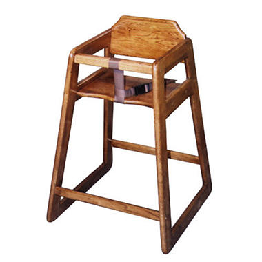 Old Dominion Solid Oak Highchair