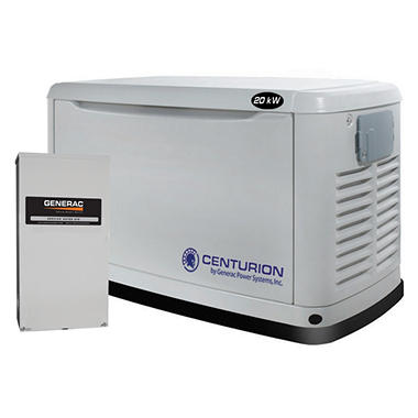 Centurion Series by Generac - 20,000 Watt (LPG) / 18,000 Watt (NG) Automatic Standby Generator with 200 Amp Transfer Switch