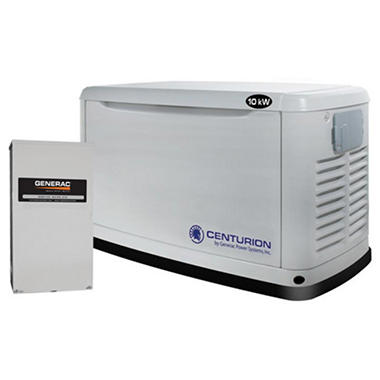 Centurion Series by Generac - 10,000 Watt (LPG) / 9,000 Watt (NG) Automatic Standby Generator with 200 Amp Transfer Switch