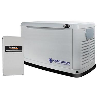 Centurion Series by Generac - 10,000 Watt (LPG) / 9,000 Watt (NG) Automatic Standby Generator with 200 Amp Transfer Switch