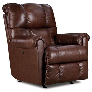 Lane Furniture Anthony Top Grain Leather Power Rocker