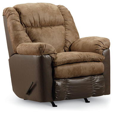 Lane McKenzie Fabric Reclining Rocker