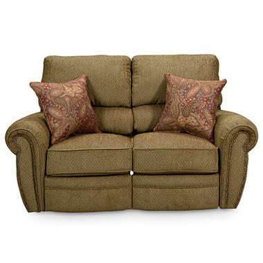 Lane Rockford Fabric Double Reclining Loveseat