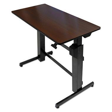 Ergotron WorkFit-D Sit-Stand Desk, Walnut/Black