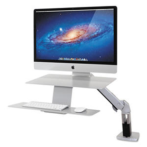 Ergotron WorkFit-A Sit-Stand For Apple iMac Monitor Workstation, Silver