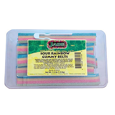 Sour Rainbow Gummy Belts (3.3 lb.)