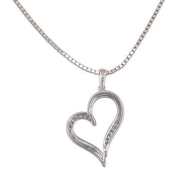 0.10 ct. t.w. Diamond Heart Pendant in Sterling Silver (H-I, I1)