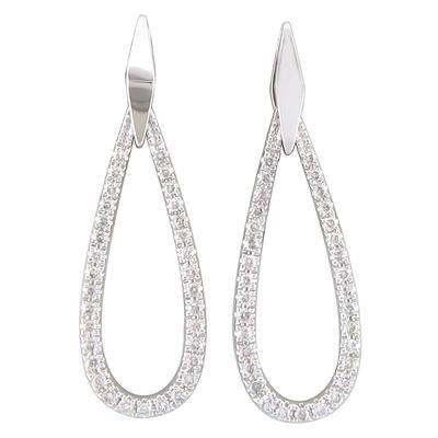 0.33 CT. T.W. Diamond Teardrop Earrings in 14K White Gold (H-I, I1)