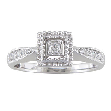 0.15 CT. T.W. Diamond Promise Ring in 14K White Gold (H-I, I1)