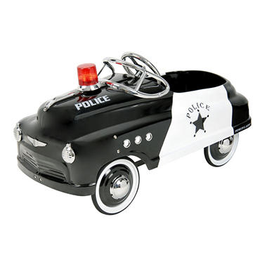 PEDAL RIDE-ON CAR BLK/WH