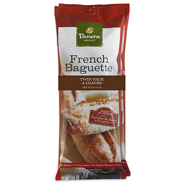 Panera Bread French Baguette Twin Pack (4 loaves)