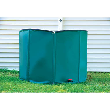 Portable Rain Barrel with Diverter - 250 gal.