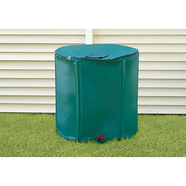 Portable Rain Barrel with Diverter - 156 gal.