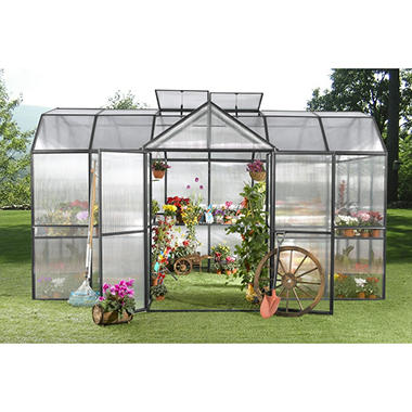 Royal Garden Greenhouse with Black Frame 10' x 10'