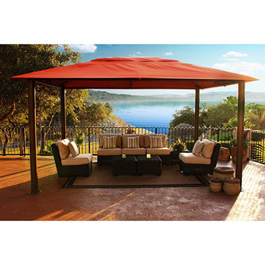 STC 10' x 13' Avalon Gazebo with Premium Sunbrella Fabric Top