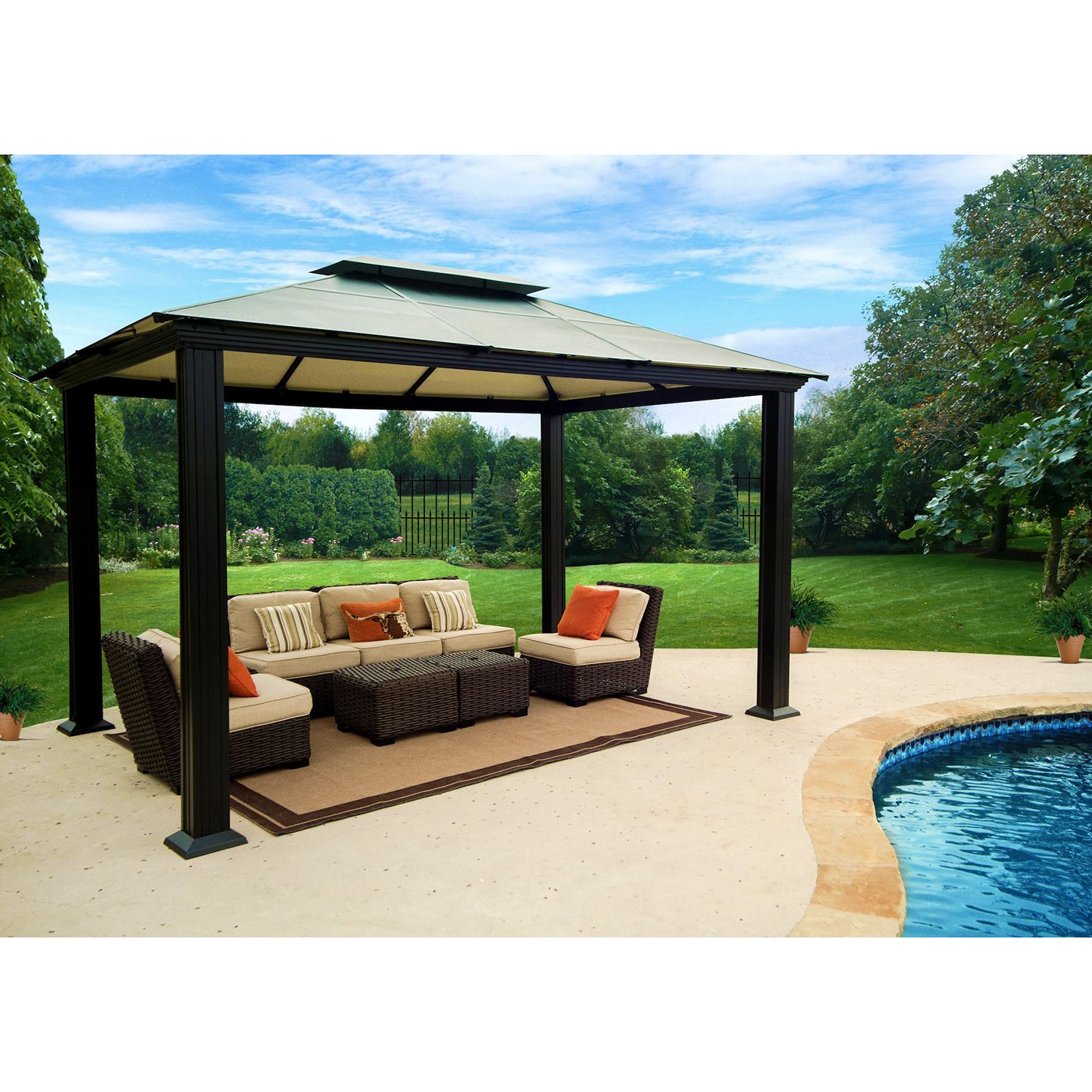 Southhampton 10 feet x 13 feet gazebo Better homes and gardens gazebo