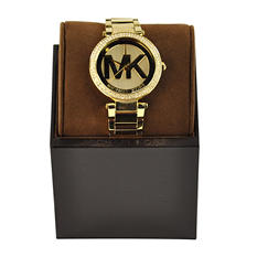 Michael Kors Women's Parker Pavé Gold-Tone Watch