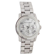 Women's Runway Silver-Tone Stainless Steel Watch by Michael Kors
