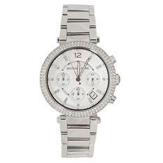 Women's Parker Silver-Tone Stainless Steel Watch by Michael Kors