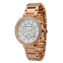 Women's Parker Rose-Gold Stainless Steel Watch by Michael Kors