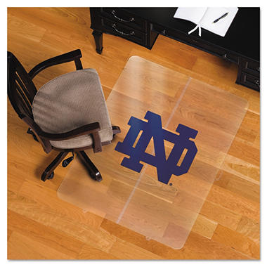 "ES Robbins Collegiate Chair Mat for Hard Floors - 48"" x 36"" - Notre Dame Fighting Irish"
