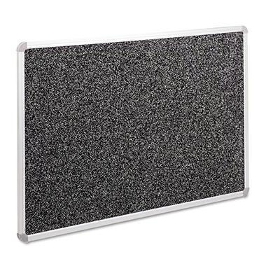 Balt Recycled Rubber-Tak Tackboard, 36 x 24, Black w/Aluminum Frame