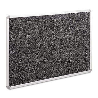 Balt - Recycled Rubber-Tak Tackboard, 48 x 36, Black w/Aluminum Frame