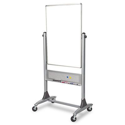 "Dura-Rite 30"" x 40"" Platinum Reversible Dry Erase Board, White with Platinum Frame"