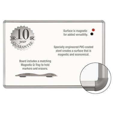 Best-Rite - Magne-Rite Magnetic Dry Erase Board - White/Silver - 36