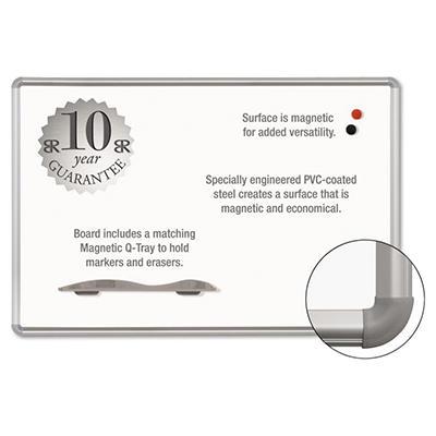 "Best-Rite - Magne-Rite Magnetic Dry Erase Board - White/Silver - 36"" x 48"""