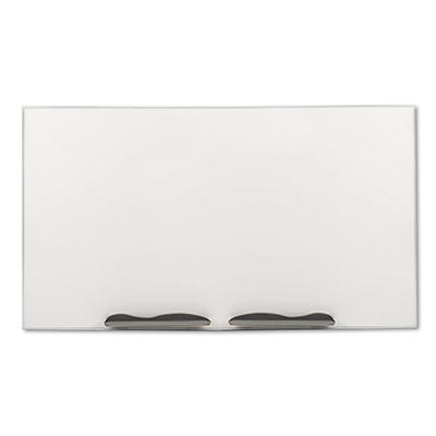 "Best-Rite 96"" x 48"" Ultra-Trim Magnetic Dry Erase Board Porcelain-on-Steel, White with Silver Frame"