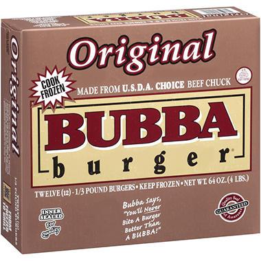 Bubba Burger® Original Bubba Burgers® - 1/3 lb. - 12 ct.