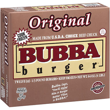 Bubba Burger� Original Bubba Burgers� - 1/3 lb. - 12 ct.
