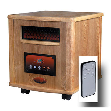 LifeSmart 1500 Infrared Heater - Oak Finish